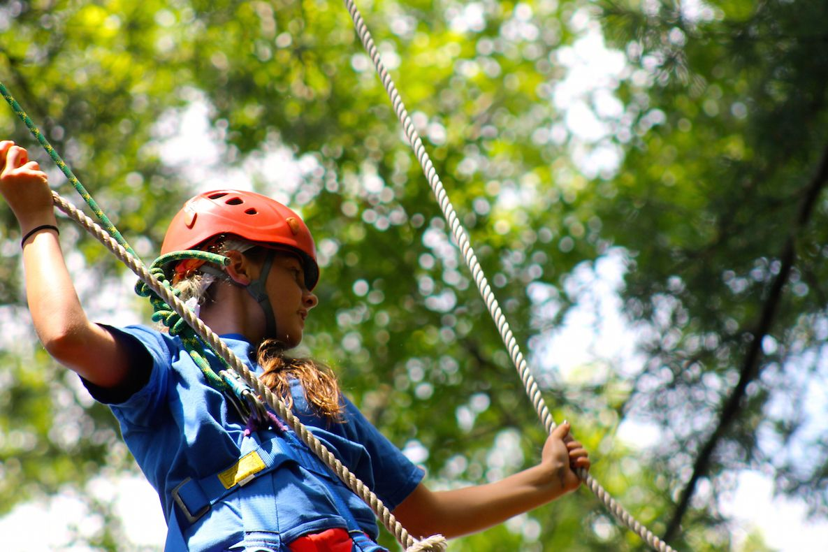 At the southern end of our campus you'll find our high ropes courses, which are popular for team building activities and our Outdoor Adventure sport option.