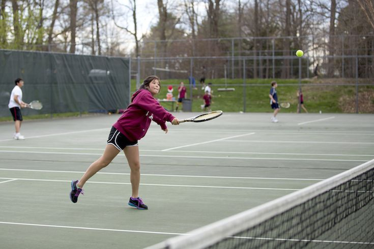 We have eight hard-surface tennis courts on our main campus, which are home to our varsity and  intramural tennis teams.