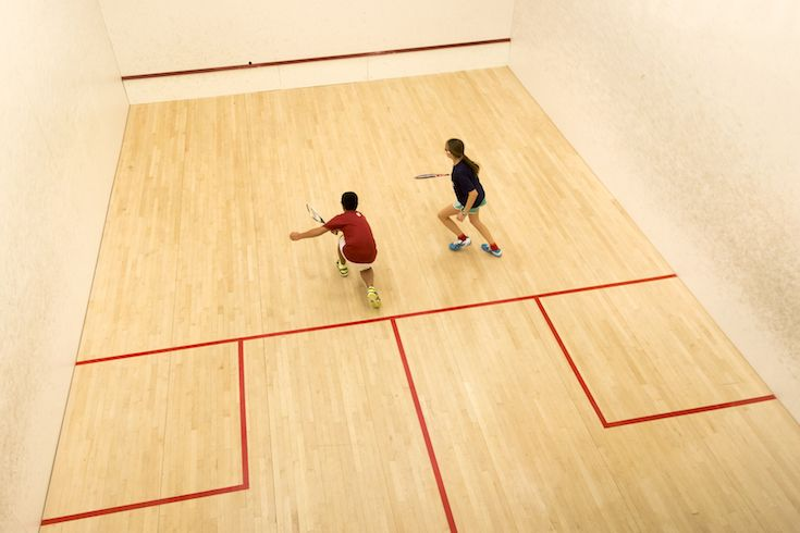 Our squash players practice at Dover Squash and Fitness in Natick, Massachusetts, just a fifteen-minute  drive from Fay.