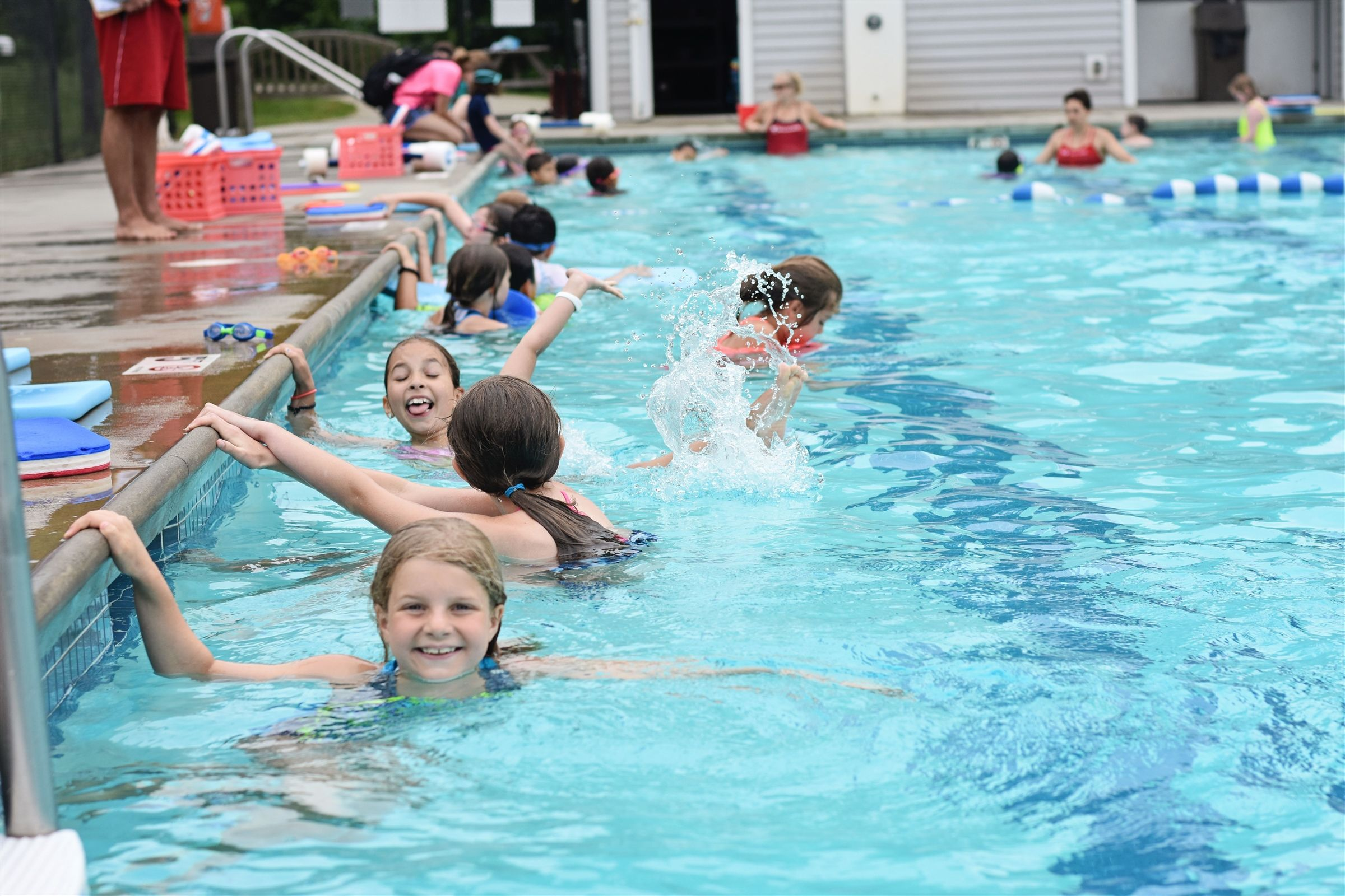 FaySummer campers have access to two outdoor, heated swimming pools. One pool is an adult-size, 25 meter pool...