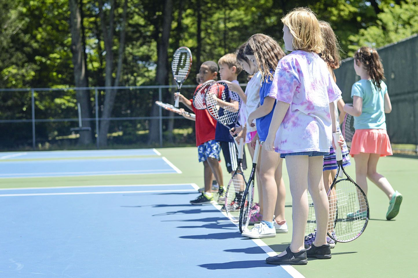 We have eight hard-surface tennis courts that all campers can use and where our tennis Specialty Camp takes place.