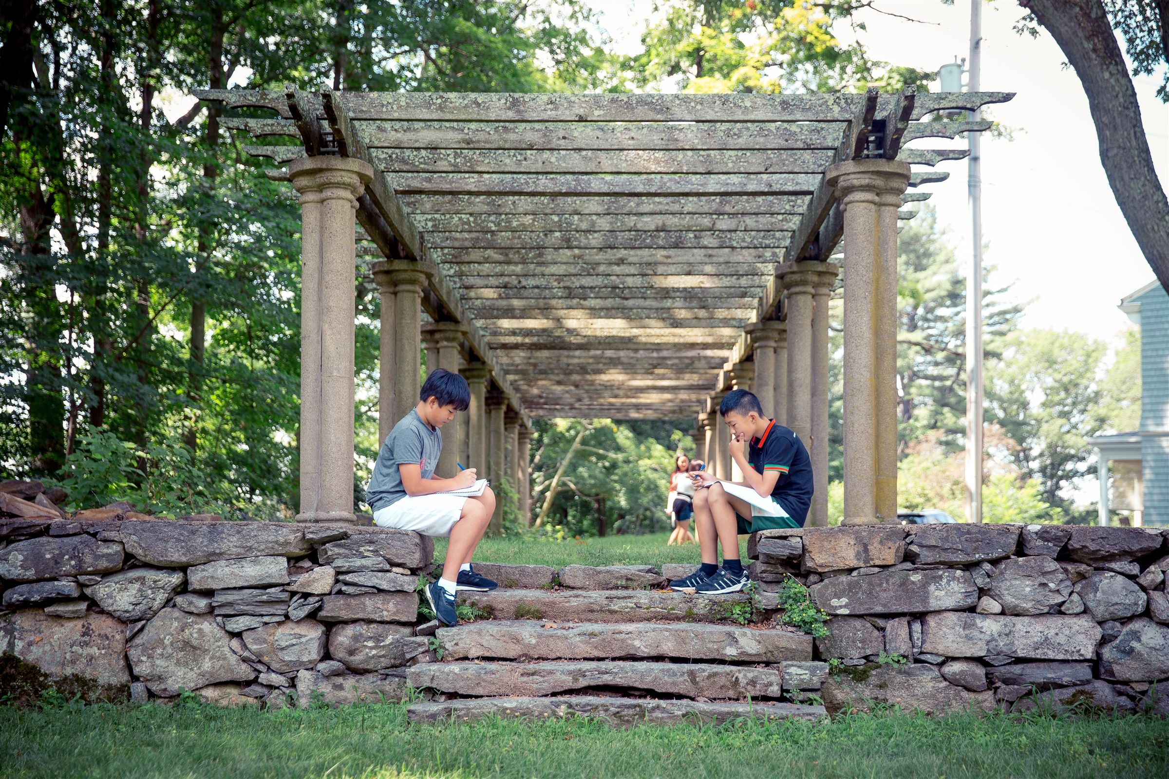 Campers can relax in our sunken garden by reading a book or working on an art project.