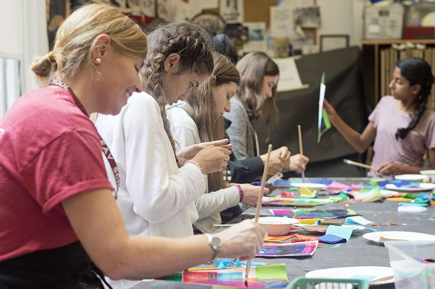Find your inner (or outer!) artist! Summer is a perfect time to express yourself in new ways, and our studios offer a range of media to explore, from watercolor and oils, to printmaking, sculpture, and ceramics.
