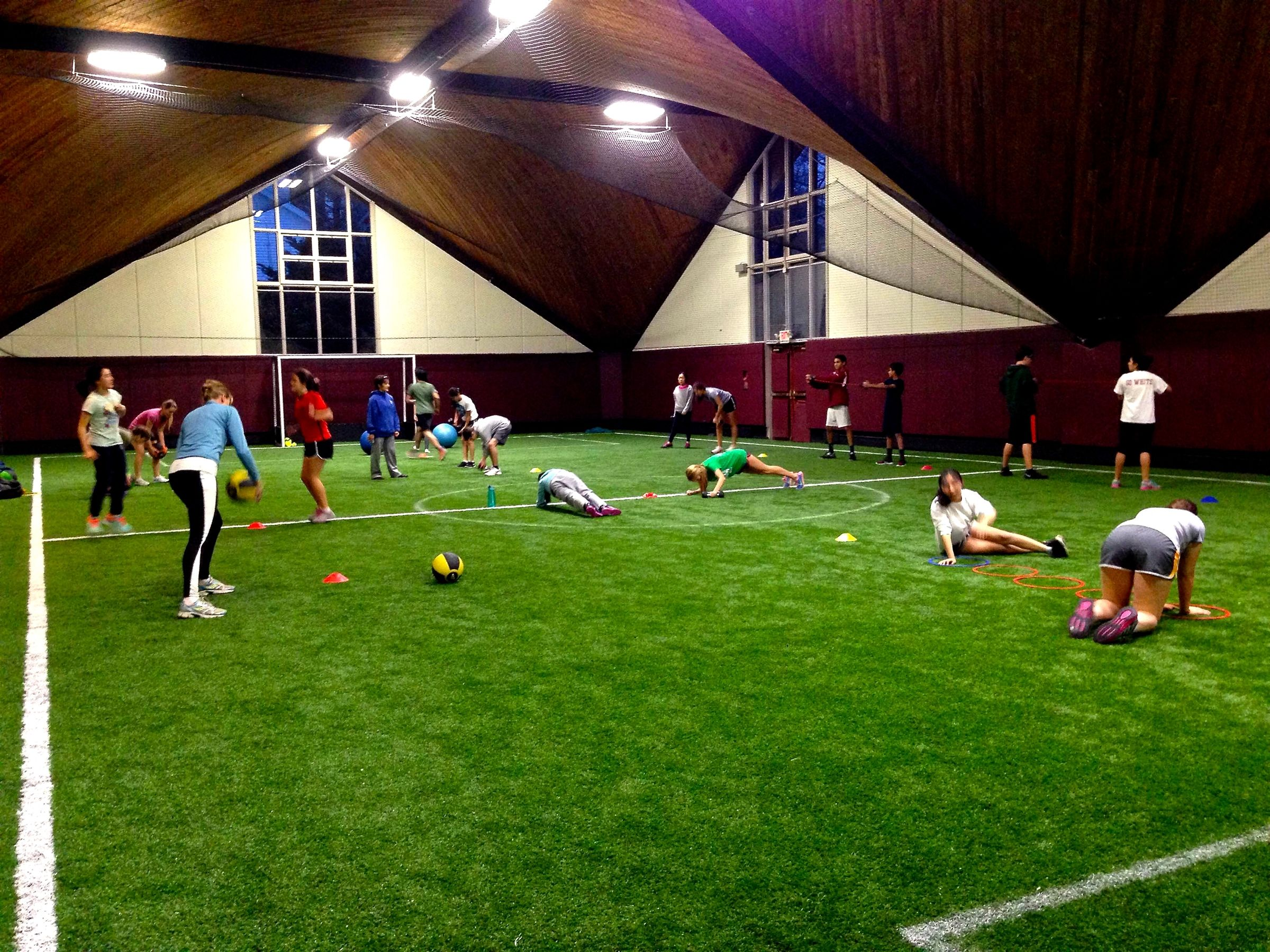 Our turf field is located in the Reinke Building and is a great option for athletics during the winter or when there is bad weather.