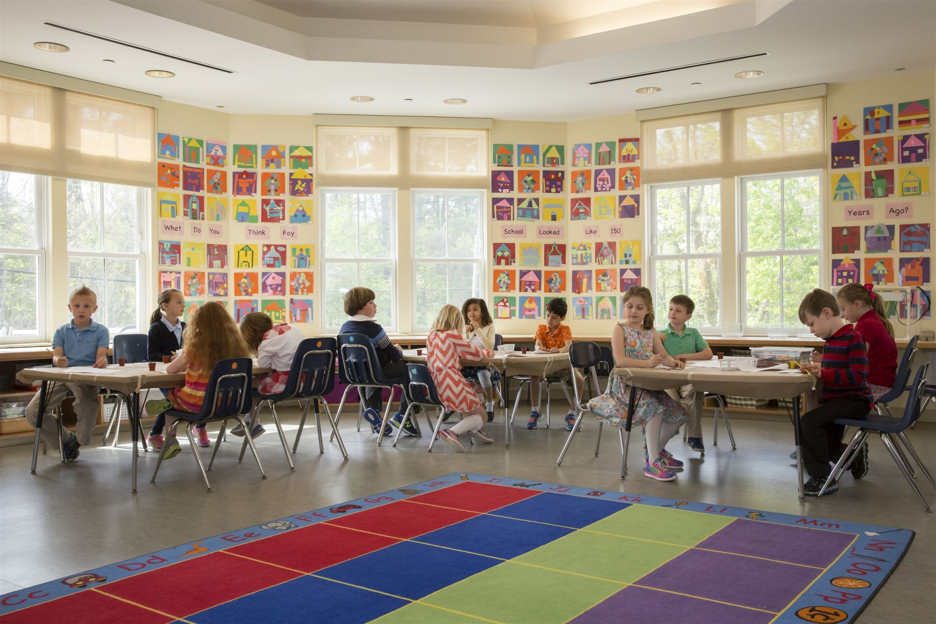 The Primary School's Art/Science room is where our youngest students attend art and science classes. Kindergarten students have art and science as a combined class, where they develop their powers of observation and interpretation.