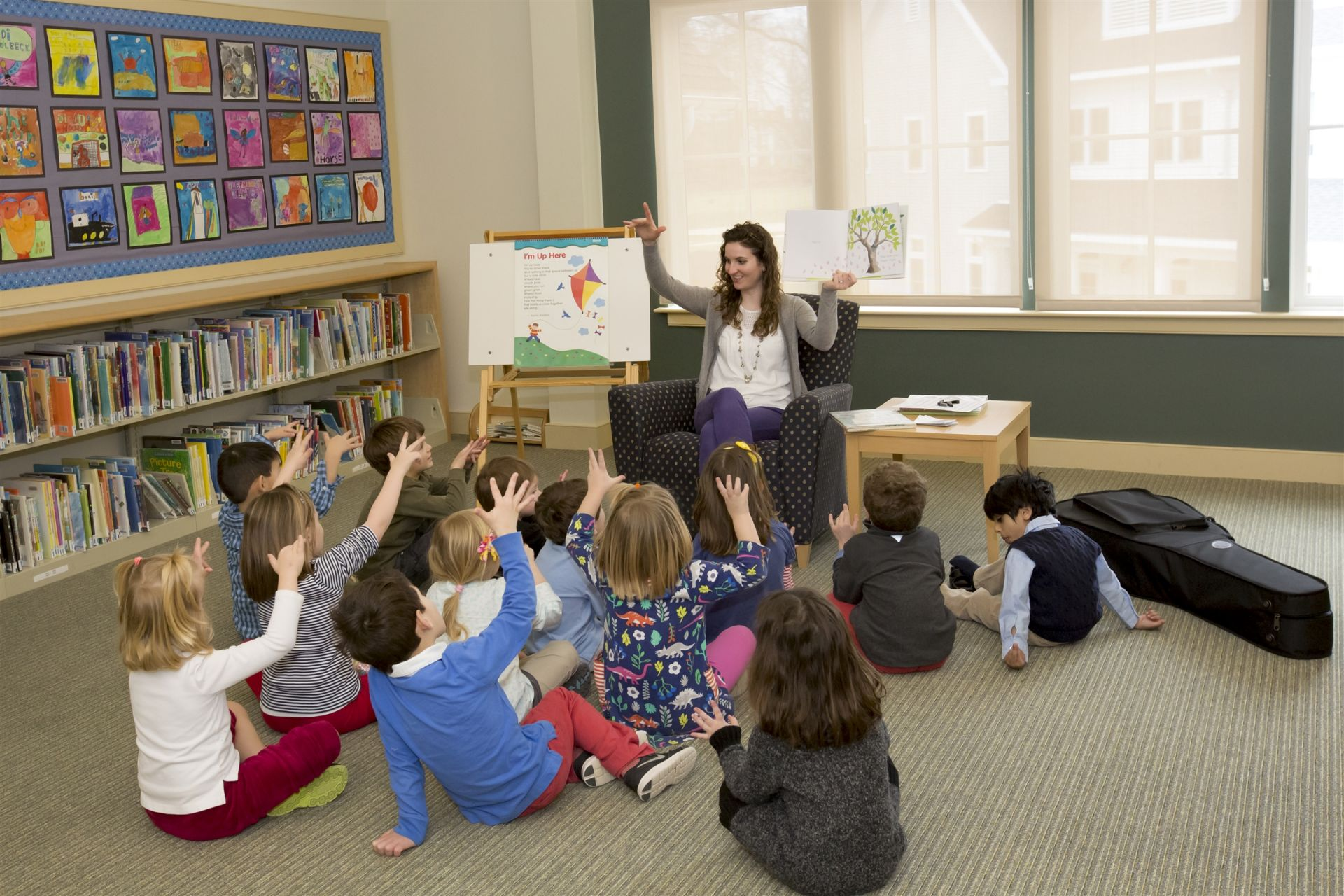 "In Library, students explore different genres of literature, from picture books and fairy tales to nonfiction and ""chapter books."" Beginning in Kindergarten, students learn library basics, including identifying a book's author and locating a book on the library shelves. Students explore personal interests and develop a sense of who they are as readers and as they browse and select books to check out."