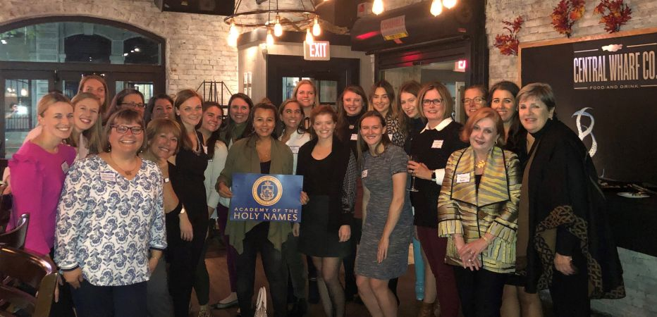Boston Area alumnae gathered at The Central Wharf on October 23