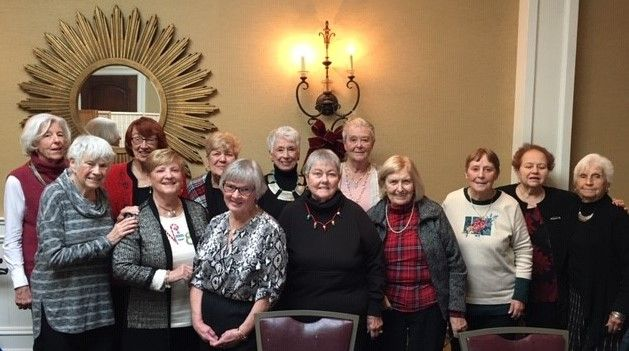Members of the Class of 1958 gather for their Christmas Luncheon in Albany