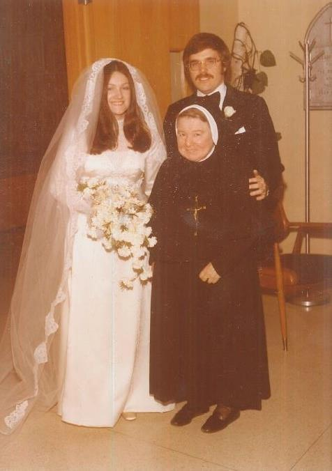 On March 19, 1977, alumna Judy Smith '70 married Joe Gerstner, on St. Joseph's Day in St. Joseph's Chapel!
