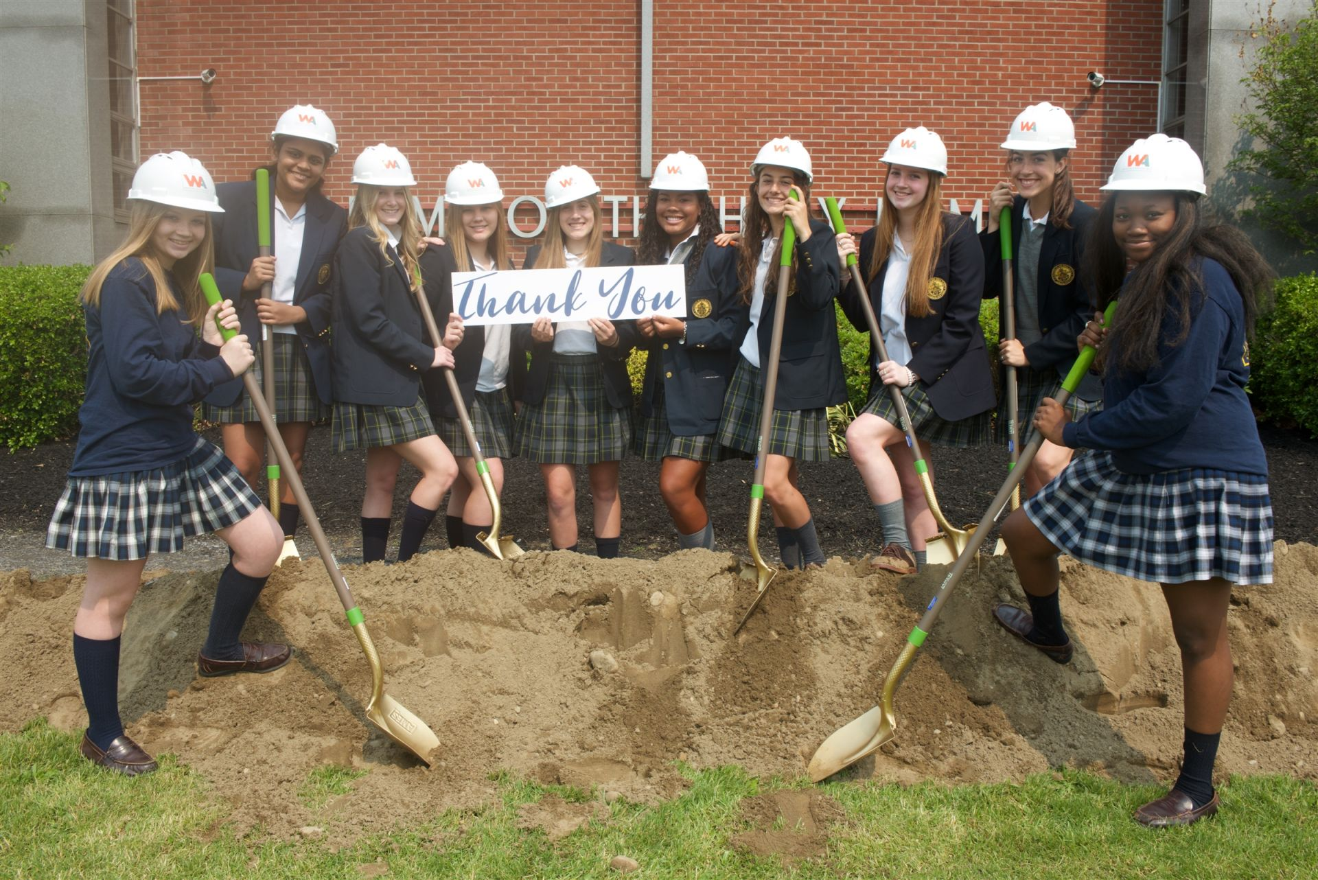 AHN Students are thankful and excited for the new classroom wing coming this fall!