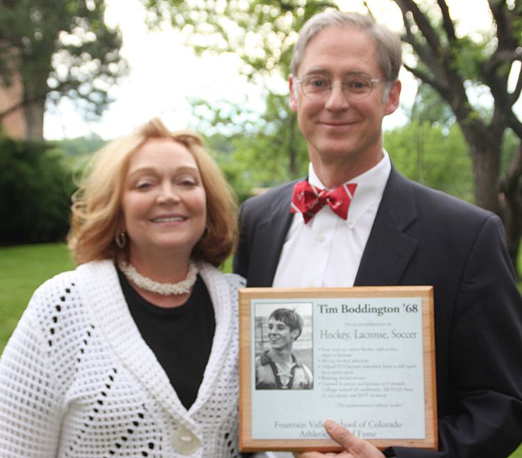 2009 inductee Tim Boddington '68 with his wife, Cate