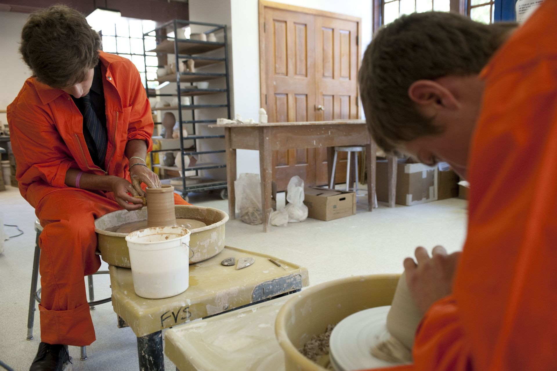Ceramics is one of the most popular art forms on campus.