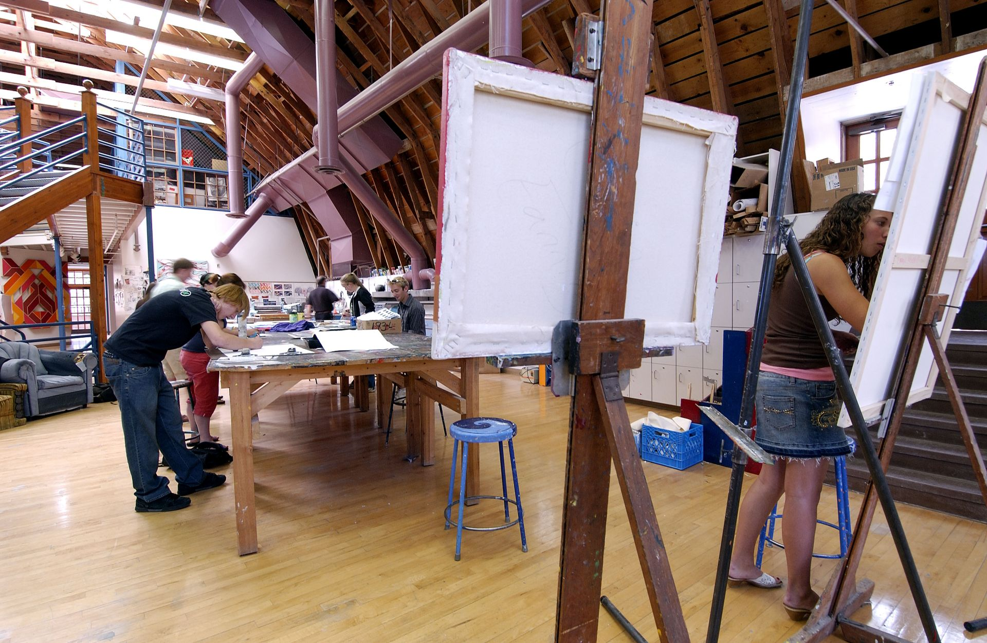 Inside the William Thayer Tutt Arts Center (Art Barn)