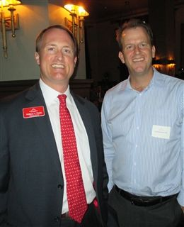 In L.A., Head of School Will Webb with Erik Randerson '86