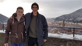 Christoph Merbach '14 and Tristan White '14 met up in Germany.