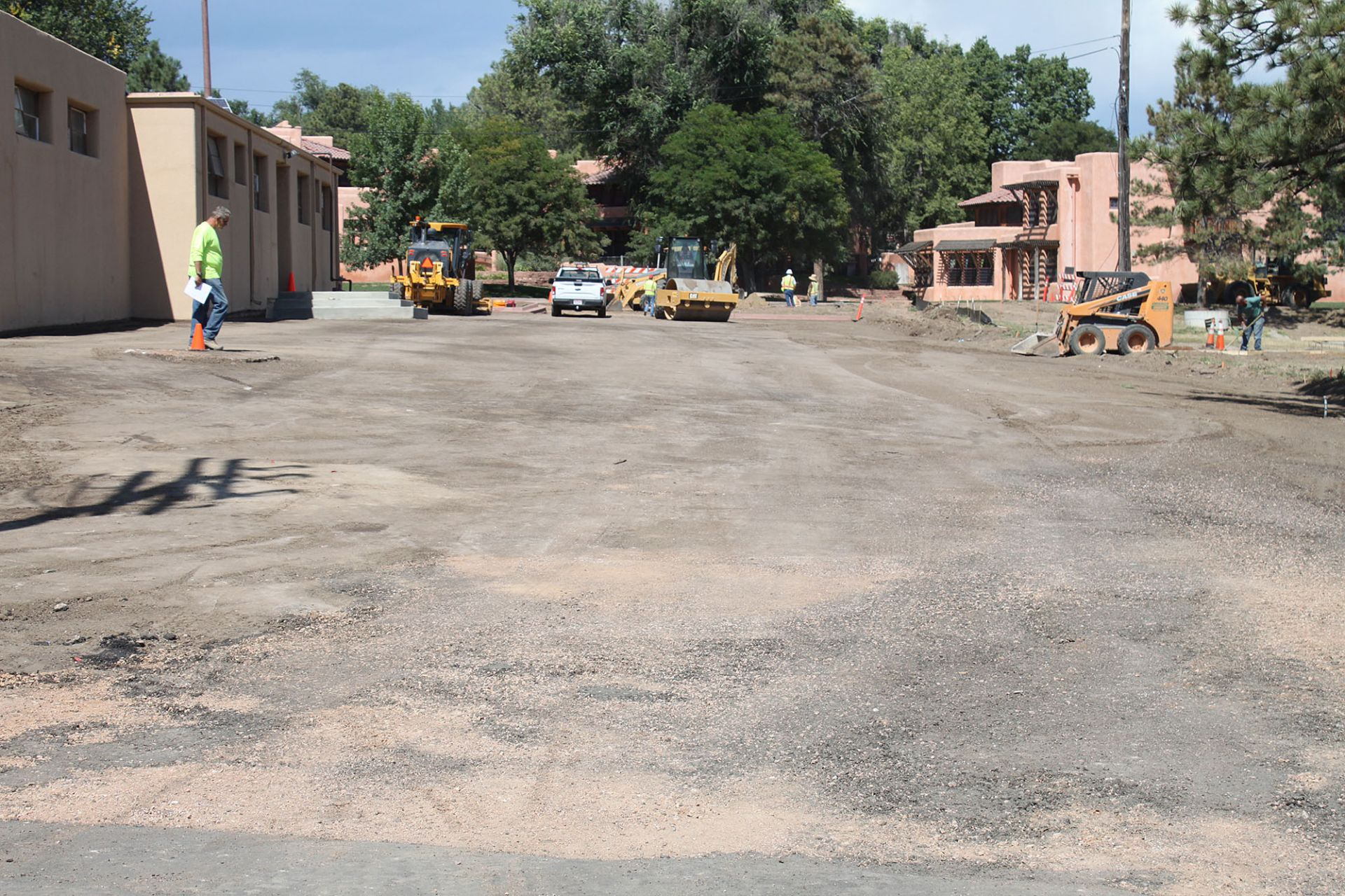 Revamping the parking area between Penrose Gym and the tennis courts