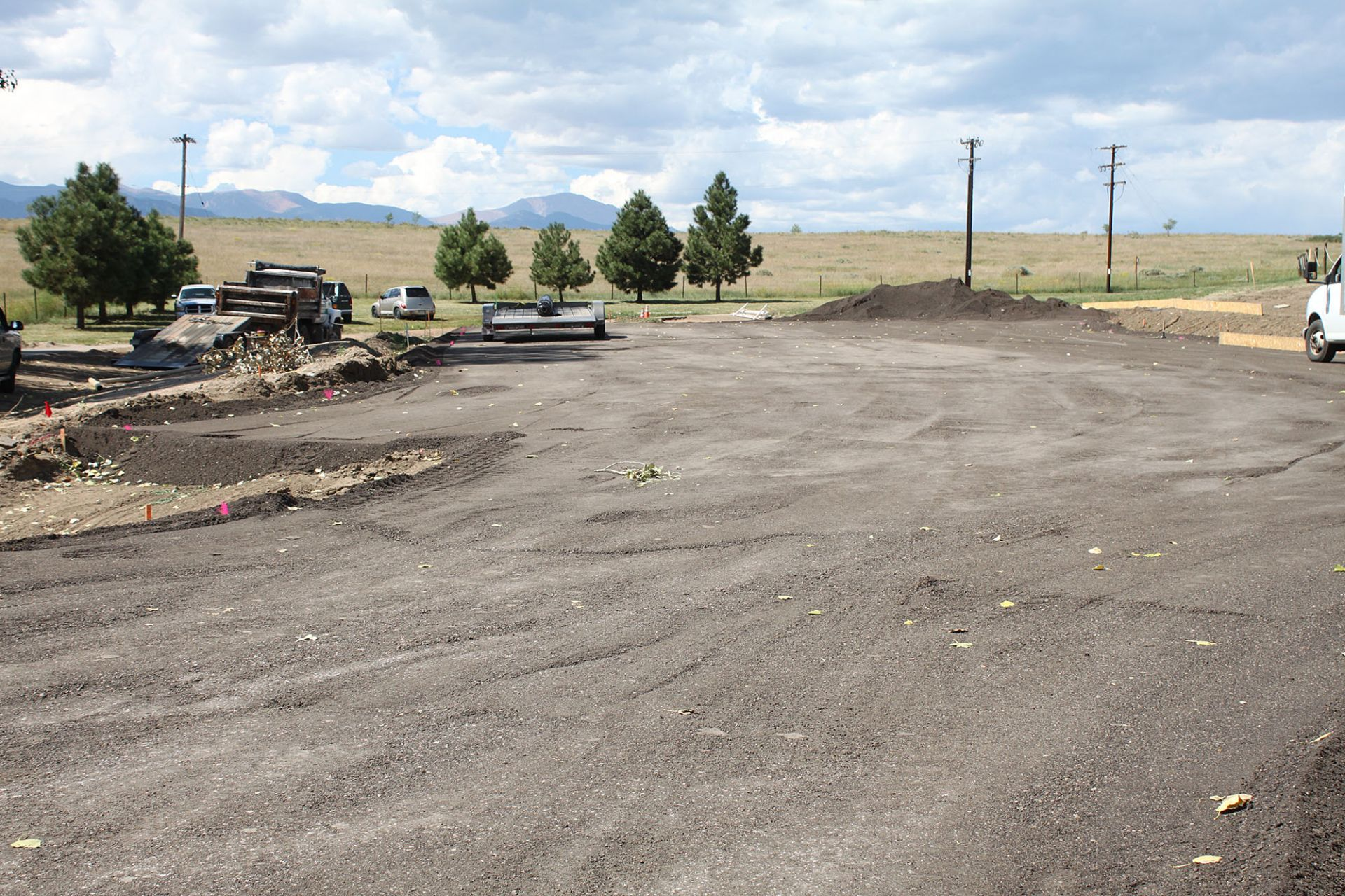 Working on the new parking lot behind the Hacienda