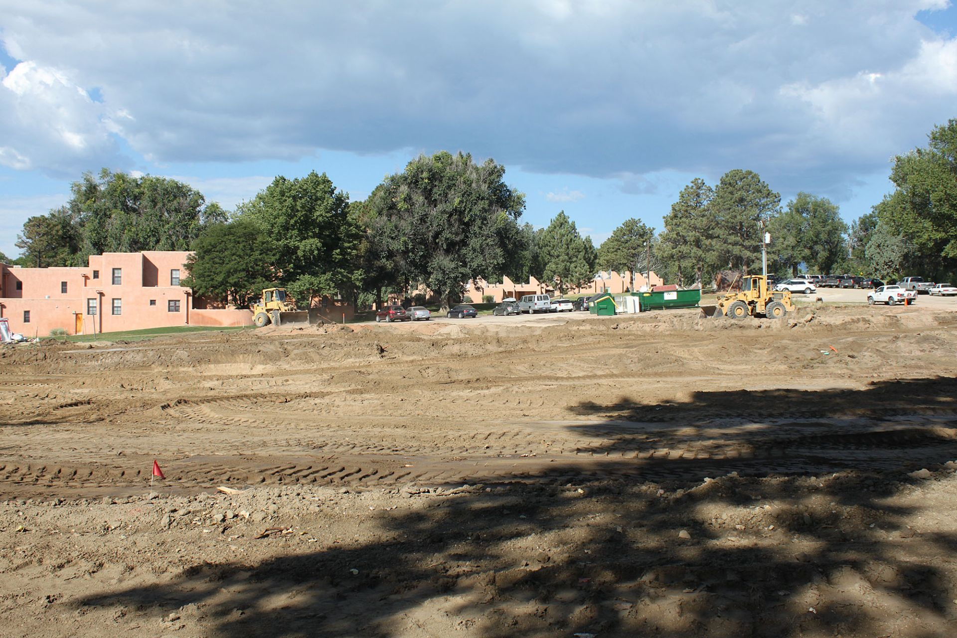 Looking from the outdoor arena toward the dorms ... the old maintenance area is gone!