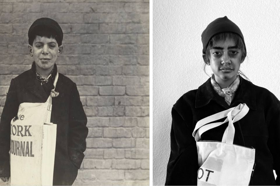 Tony Casale, Newsboy: Lewis Hine, March 1909  |  Cristina F.'23, 2020