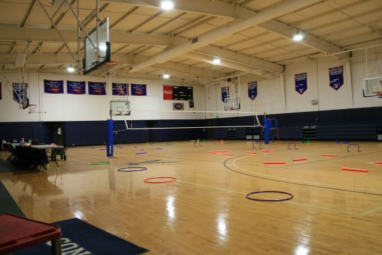 Gymnasium  for middle school basketball and volleyball and physical education