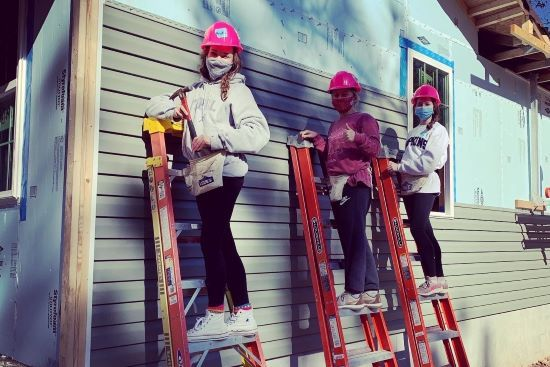 O'Neal Volunteers Key Club at Habitat for Humanity