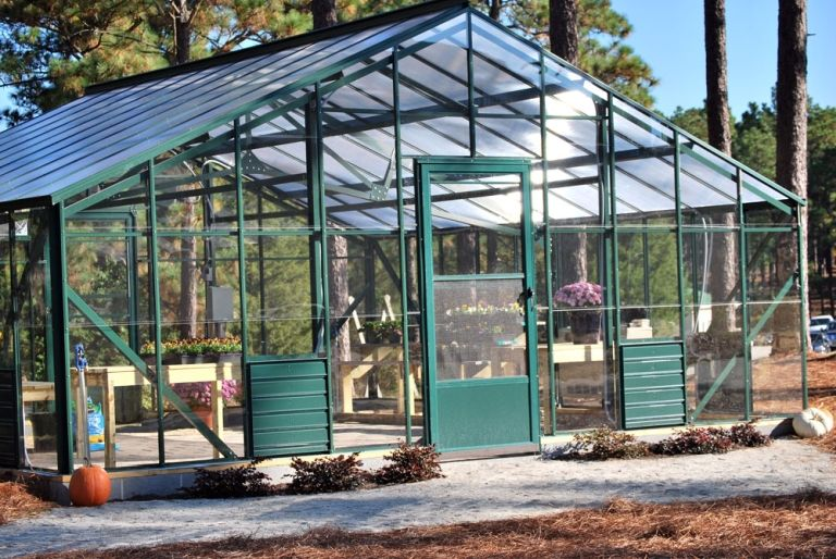The Greenhouse sits adjacent to McMurray Hall Lower School