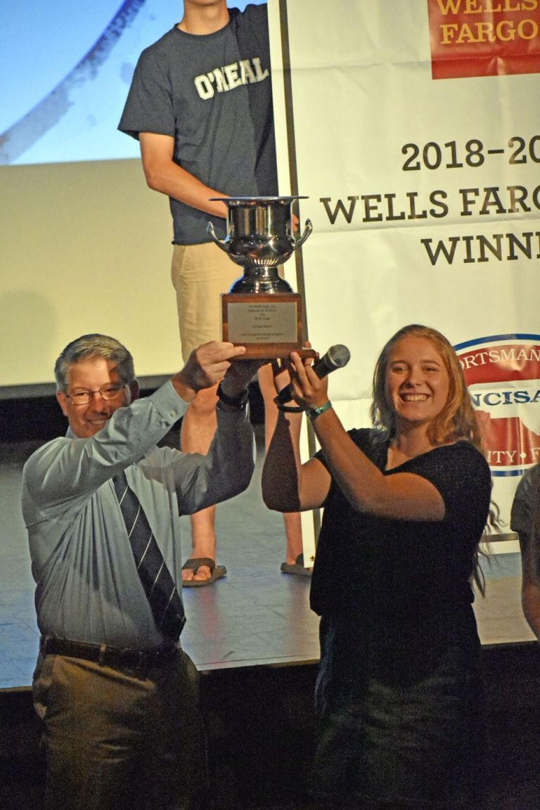 Wells Fargo Cup is presented to the Upper School student body.
