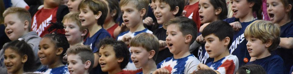 Elementary School Students Cheer
