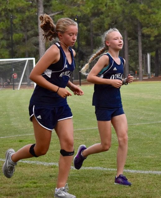 Middle School students participate on the cross country team