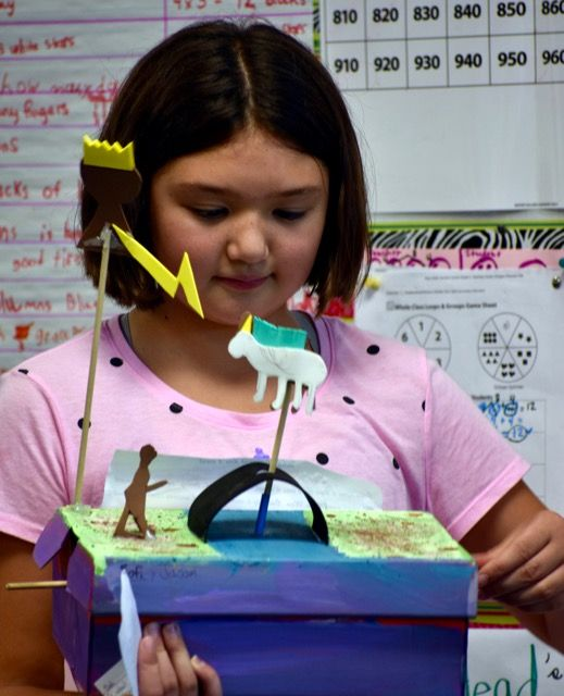 Middle School students use STEAM skills to make Automata projects.