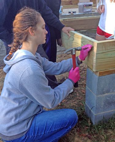High School Students Volunteer for Habitat for Humanity Build