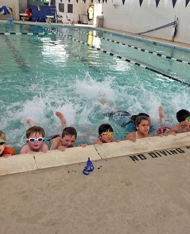 Unlike Lee County Schools, NC; kindergarten students Swimming