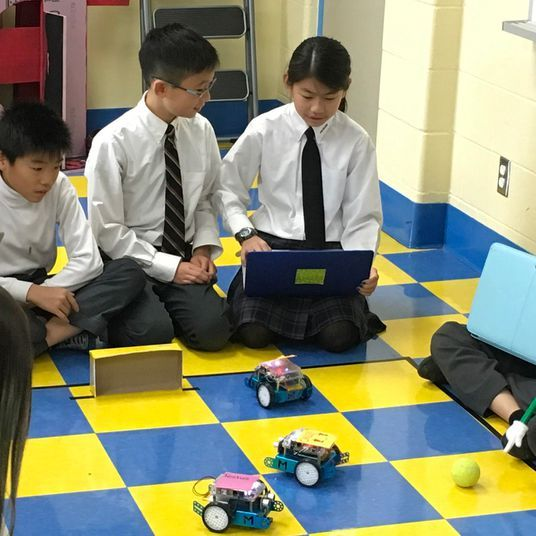 Richmond Hill Elementary Private School students prepare for the annual FIRST Robotics Competition Event
