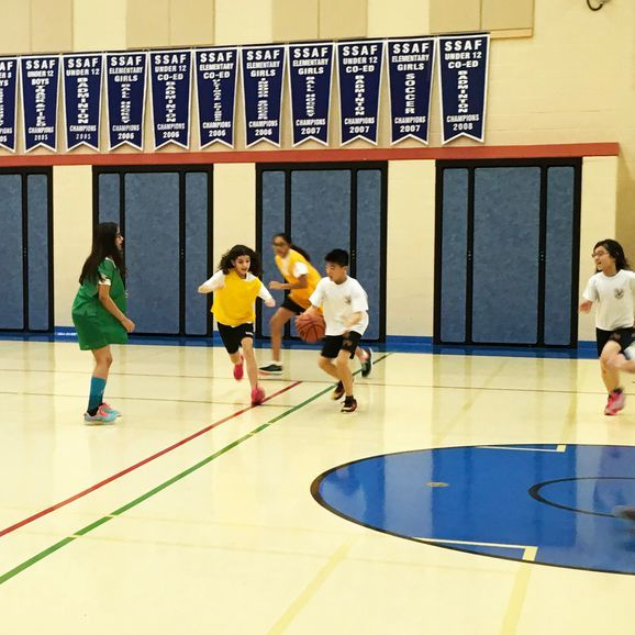 Private School Physical Education teaches RHMS students sports like hockey and basketball