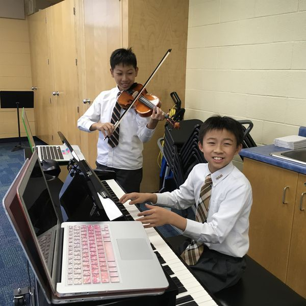 Elementary Private School senior students compose music soundtracks