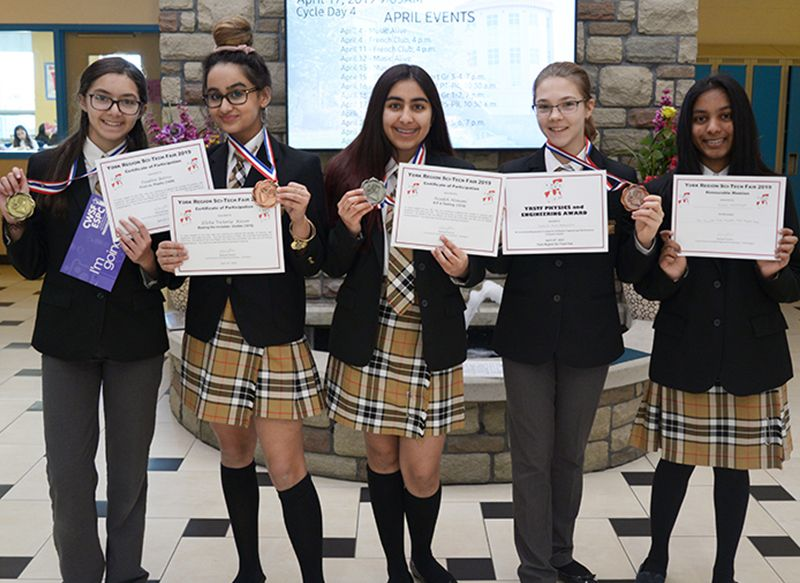 Science and Technology 2018/2019 Award Winners from YRSTF, including RHMS Gold medal winner in sustainability
