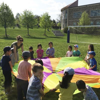 Junior Physical Education exposes Montessori preschoolers to sporting games and team building