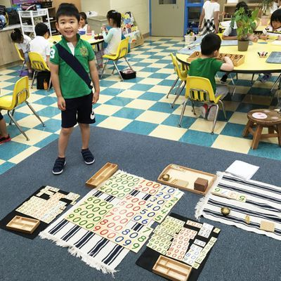 Lessons are presented using Montessori concrete materials in Language and Mathematics