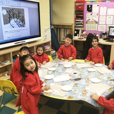 Artistic qualities and creative thinking are developed in Montessori Fine Arts classrooms
