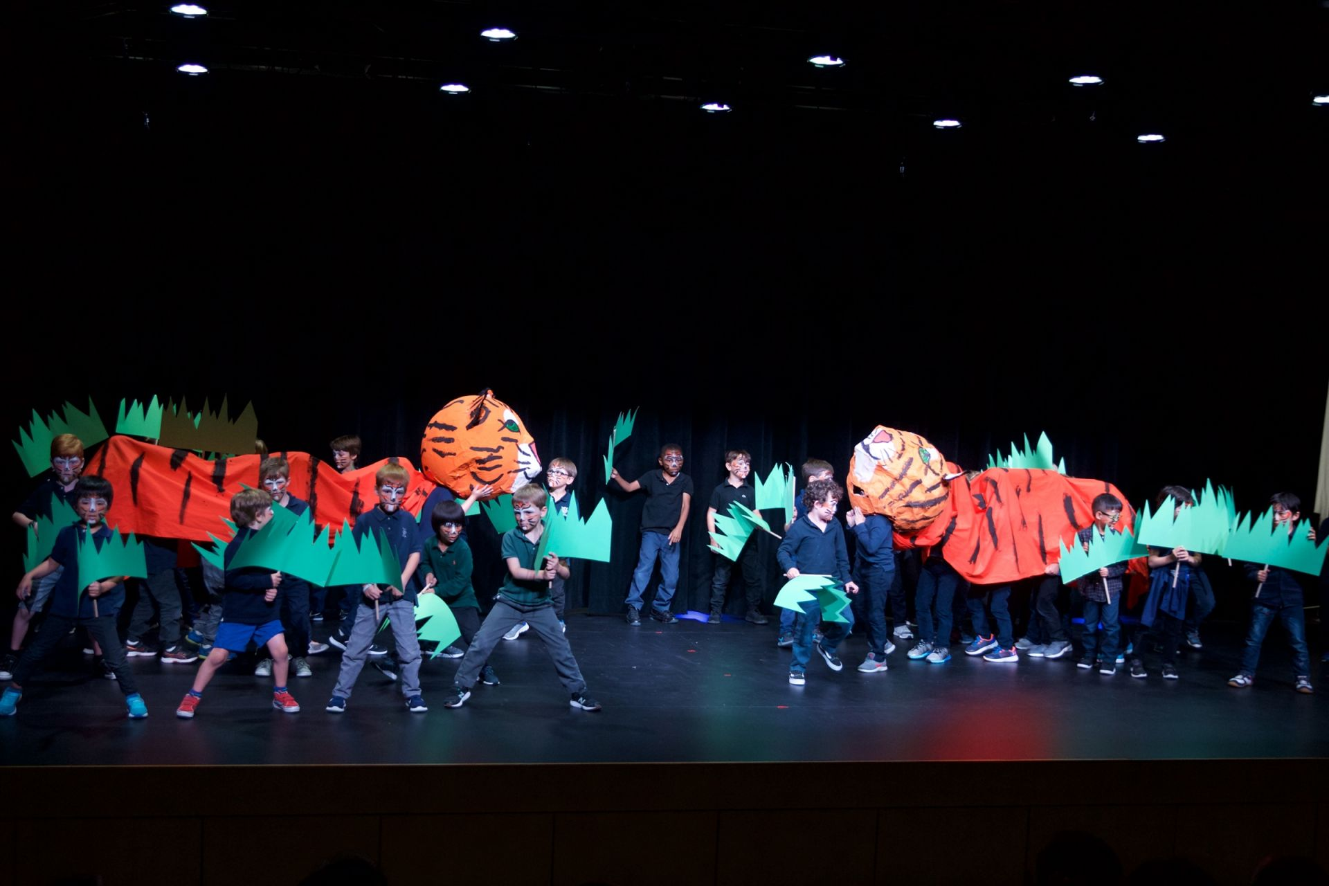 Kindergarten Tiger Dance in our new Dolby Theater
