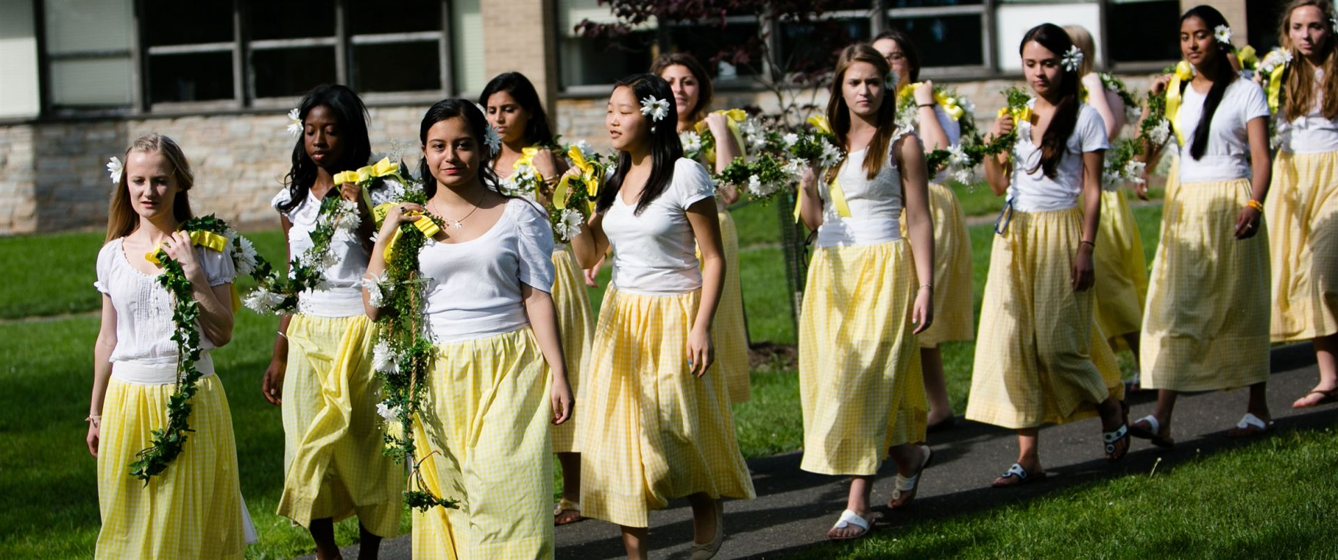 Daisy Chain during Commencement