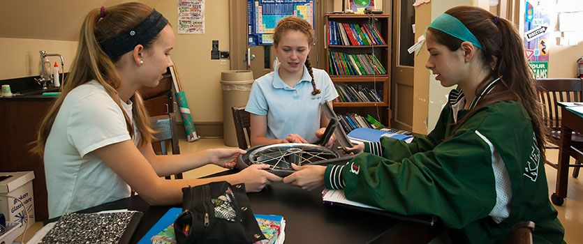 Middle School students are challenged every day to think critically and creatively, to understand multilayered concepts and examine diverse viewpoints.