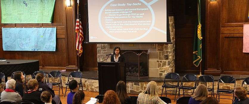 Ethics is required coursework in the Upper School, and our pathbreaking Ethics Institute seeks to inspire our students to be better citizens and leaders.