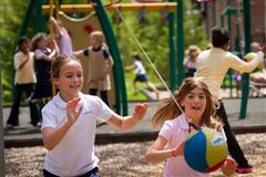 In addition to classroom time, Primary School students enjoy outdoor play on our four age-appropriate playgrounds.