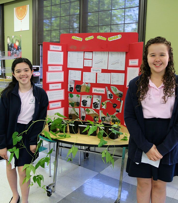 The culmination of the fifth grade science fair gives students the opportunity to present their scientific findings to the community.
