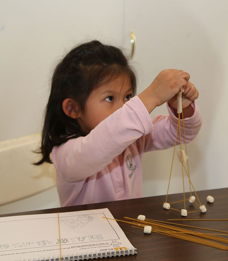 Students in Kindergarten use design thinking to engineer a solution to a problem from