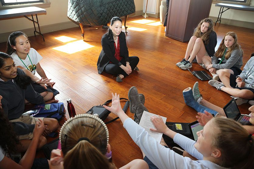 Alumnae, such as Iron Chef Judy Joo '93, return to campus to share their wisdom with students.