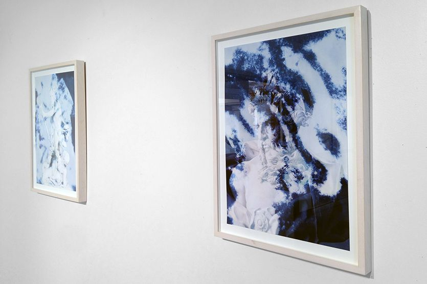 "Kent Place Gallery will present an exhibition by New York artist Lara Atallah from Friday, January 11–Friday, February 1, 2019. Atallah's show, ""A Moratorium on Looking,"" presents unique, hand-worked polaroid photographs, a narrative video installation, and delicate blue cyanotype prints. Using the Mediterranean as a point of focus, her work explores the political nature of landscape through photography."