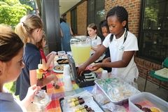"Students learn entrepreneurial skills through ""Shark Tank"" activities, TREP$ and the annual Primary School lemonade sale."