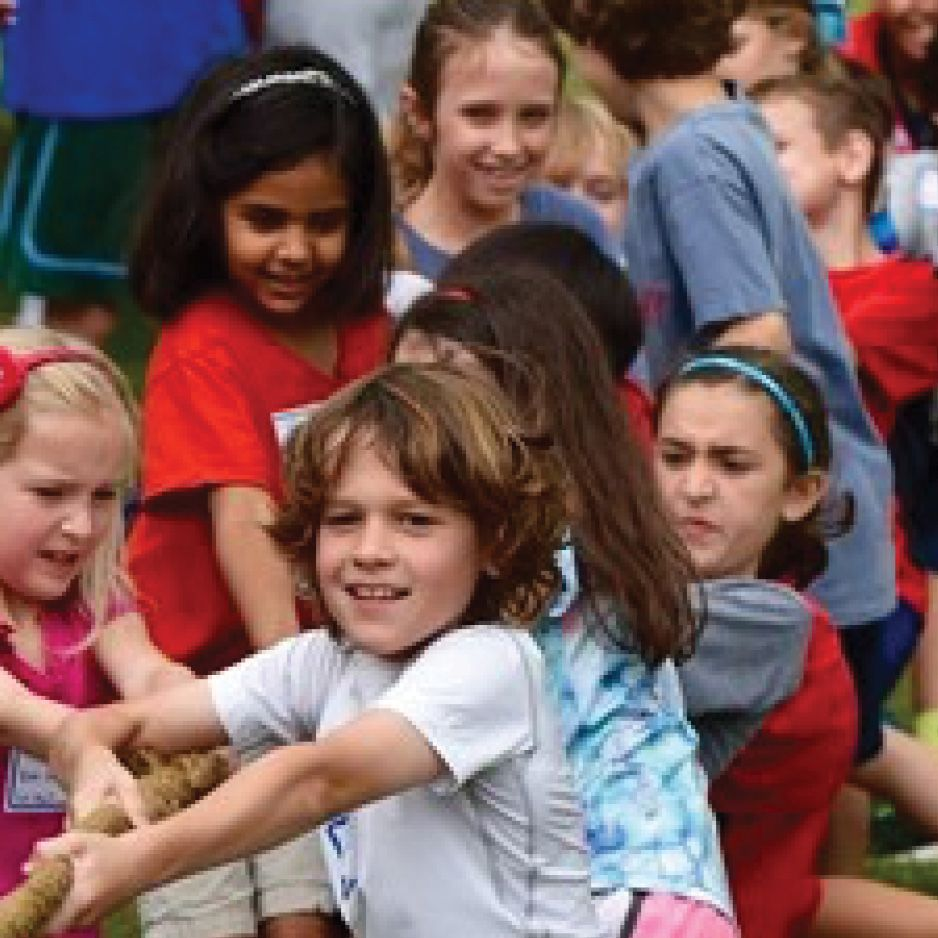 Tug of War During Field Day
